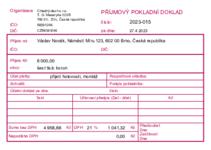 Sample Příjmový pokladní doklad - A6