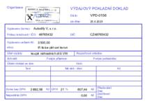 Vzor Výdajový pokladní doklad - A6